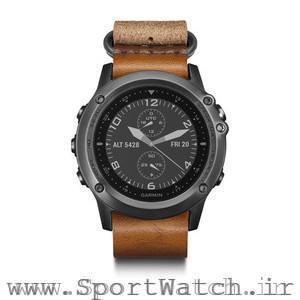 ساعت گارمین Fenix3 Sapphire خاکستری با بند چرمی