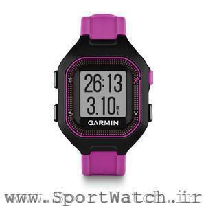 Forerunner 25 Black Purple Watch Only