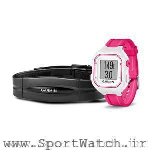 Forerunner 25 White Pink Bundle