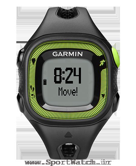 ساعت ورزشی گارمین forerunner 15 black green