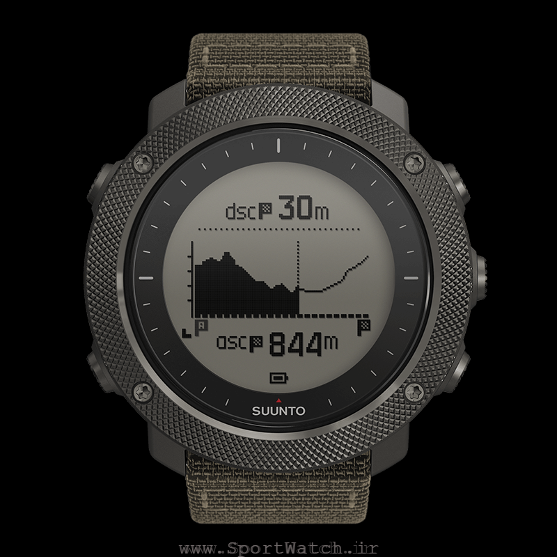 SS022292000 Suunto Traverse Alpha Foliage - Altitude Profile Navigation Metric