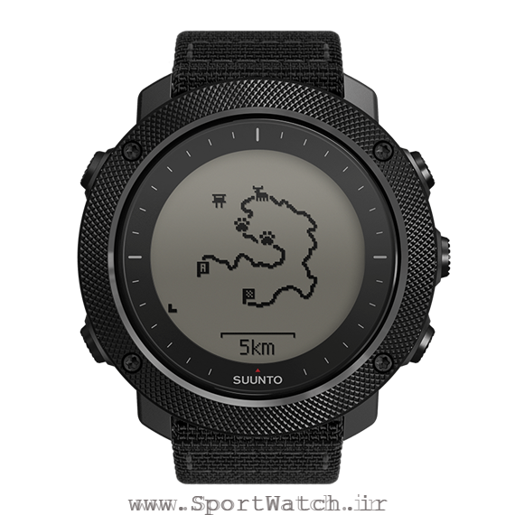 SS022469000 Suunto Traverse Alpha Stealth - Route with POI