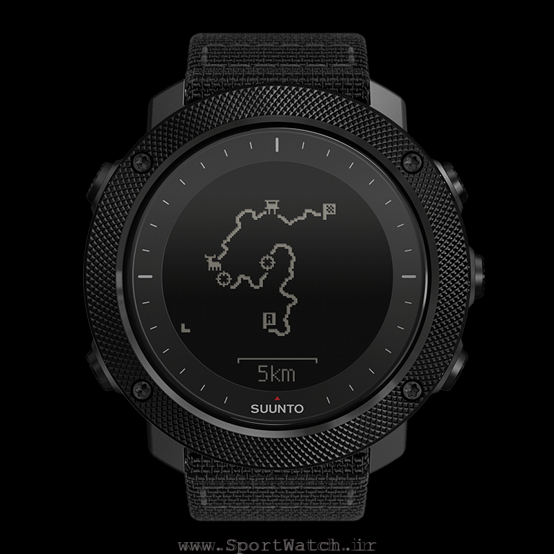 SS022469000 Suunto Traverse Alpha Stealth - View Route with shots