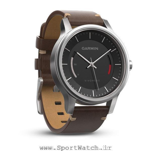 ساعت گارمین Vivomove Premium Stainless Steel Leather Band