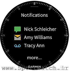 نمایش پیام ها، ایمیل ها و تماس ها روی ساعت تاکتیکس براوو