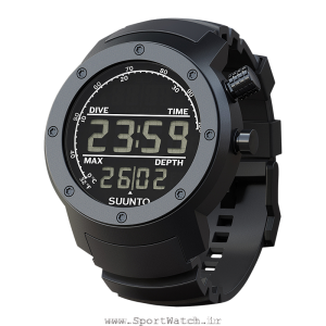 suunto elementum aqua black rubber dark display