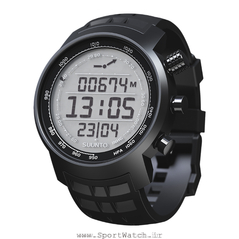 Suunto Elementum terra black rubber light display
