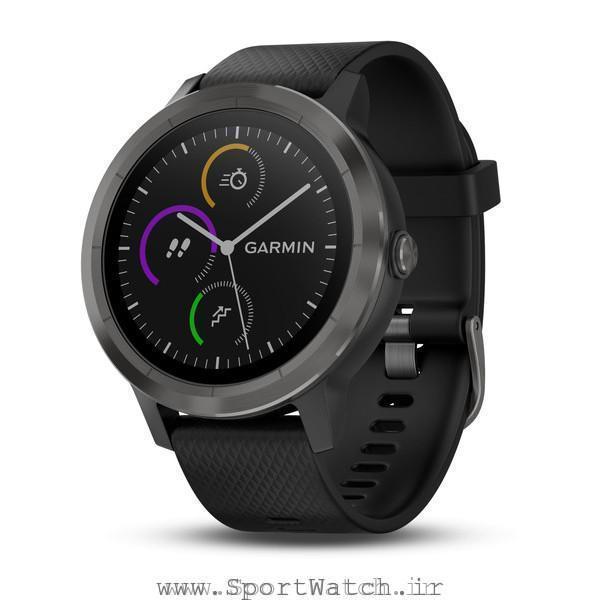 VivoActive 3 Black with Slate Hardware