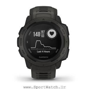 ساعت هوشمند گارمین Instinct Graphite