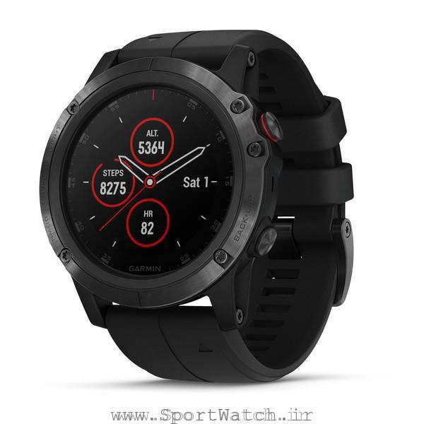 fenix 5X Plus Sapphire Black with Black Band