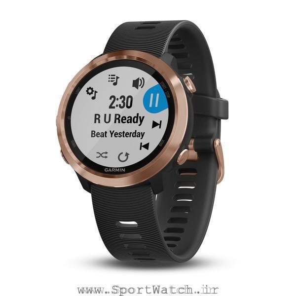Forerunner 645 Music Black with Rose Gold Hardware