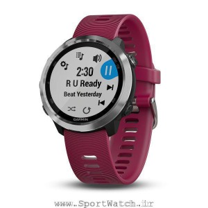 Forerunner 645 Music Cerise with Stainless Hardware