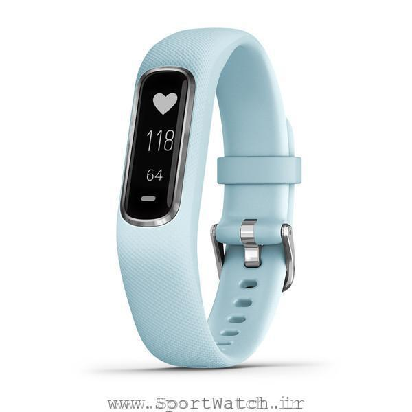 VivoSmart 4 Azure Blue with Silver Hardware