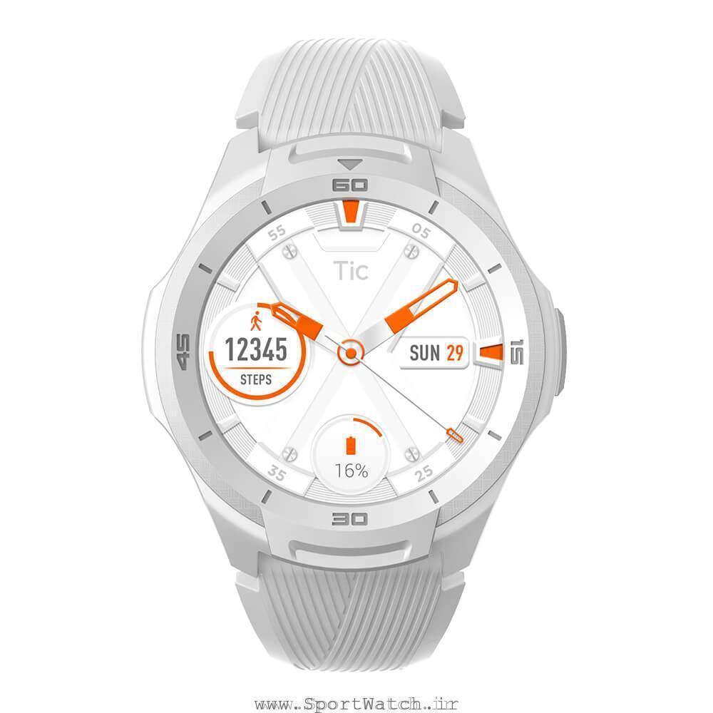 ساعت هوشمند تیک واچ اس 2 سفید یخچالی