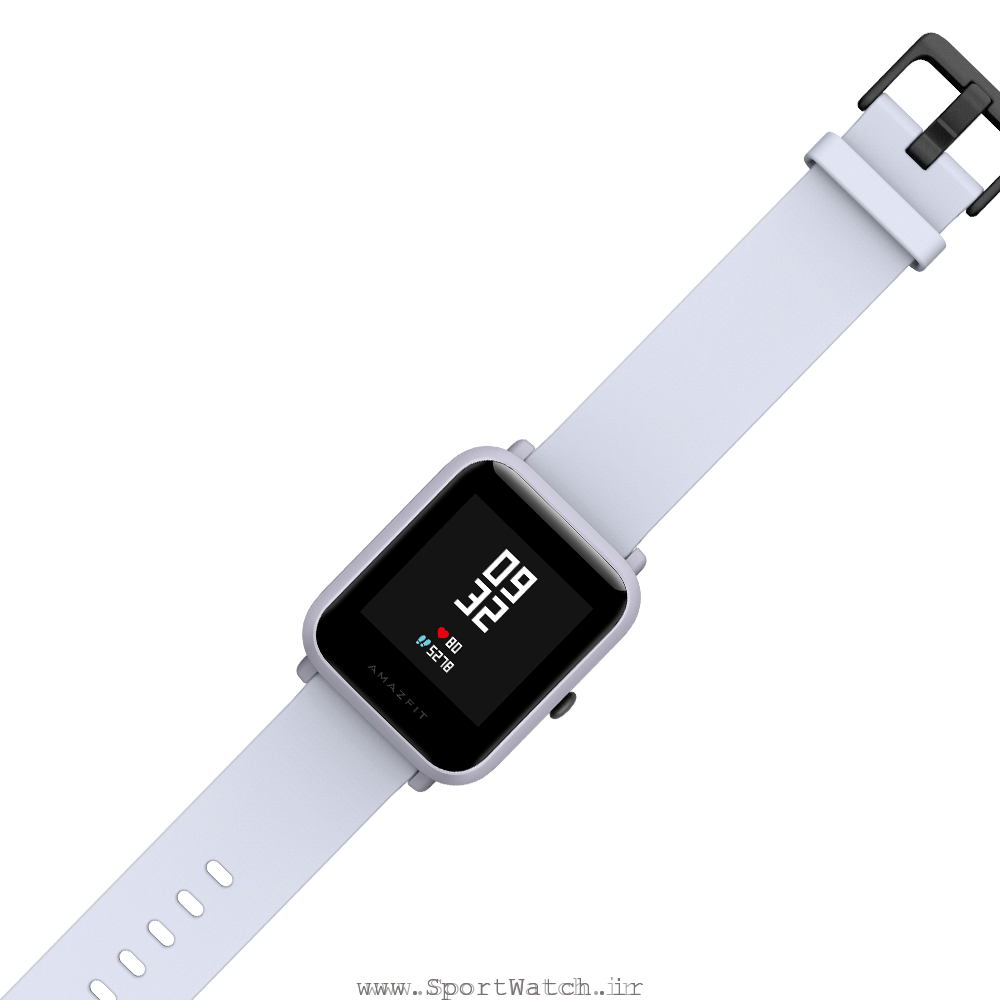 ساعت هوشمند آمازفیت بیپ سفید (سفید ابری)