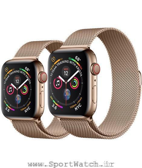 Apple Watch Gold Stainless Steel Case with Gold Milanese Loop