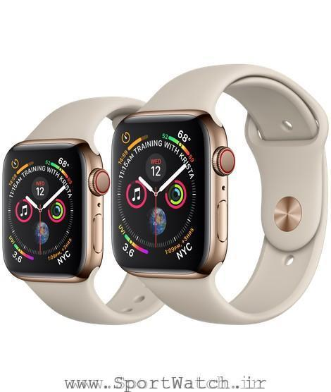 Apple Watch Gold Stainless Steel Case with Stone Sport Band