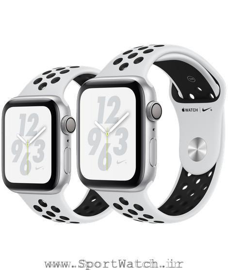 Apple Watch Nike Silver Aluminum Case with Pure Platinum Black Nike Sport Band