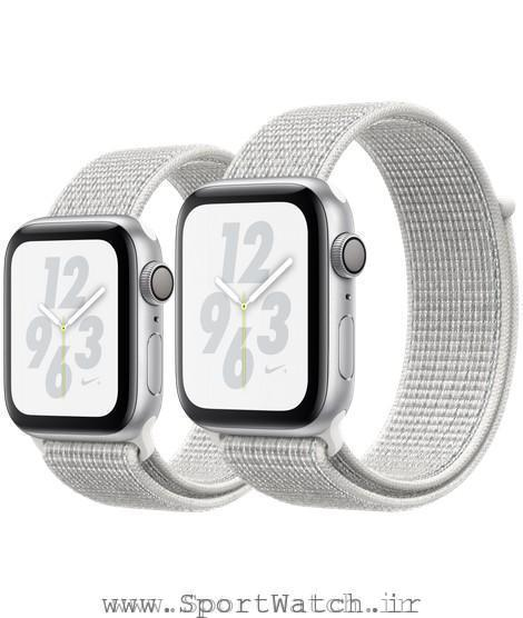 Apple Watch Nike Silver Aluminum Case with Summit White Nike Sport Loop
