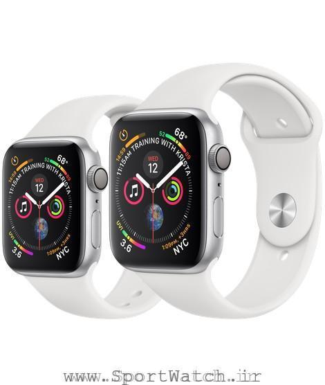Apple Watch Silver Aluminum Case with White Sport Band