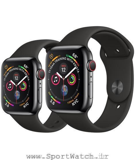 Apple Watch Space Black Stainless Steel Case with Black Sport Band