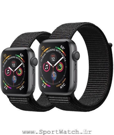 Apple Watch Space Gray Aluminum Case with Black Sport Loop