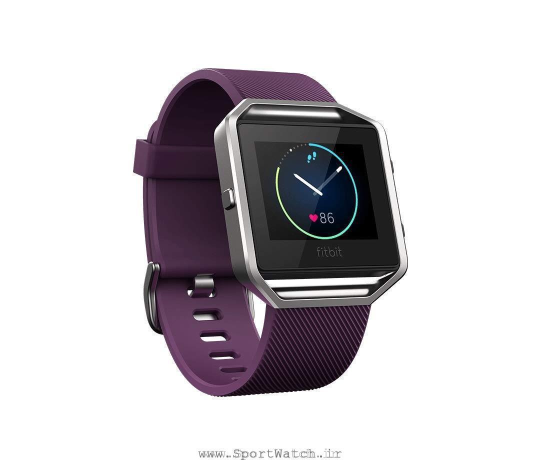ساعت هوشمند فیت بیت Fitbit Blaze Smart Fitness Watch Plum Silver