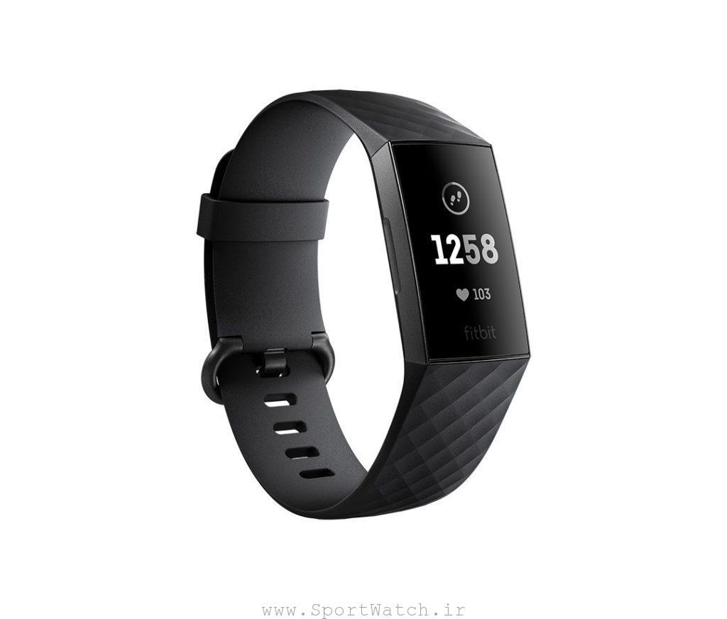 ساعت هوشمند فیت بیت charge3 black graphite aluminum