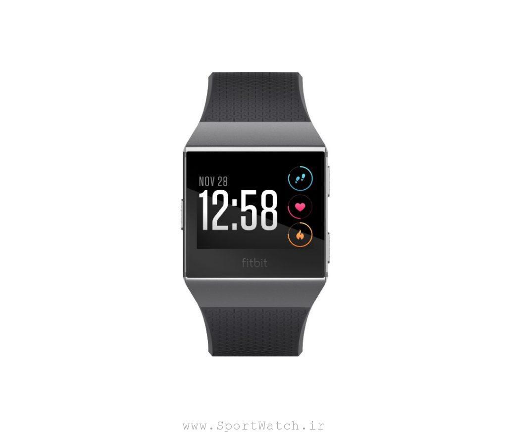 ساعت هوشمند فیت بیت Fitbit ionic Charcoal Smoke Gray