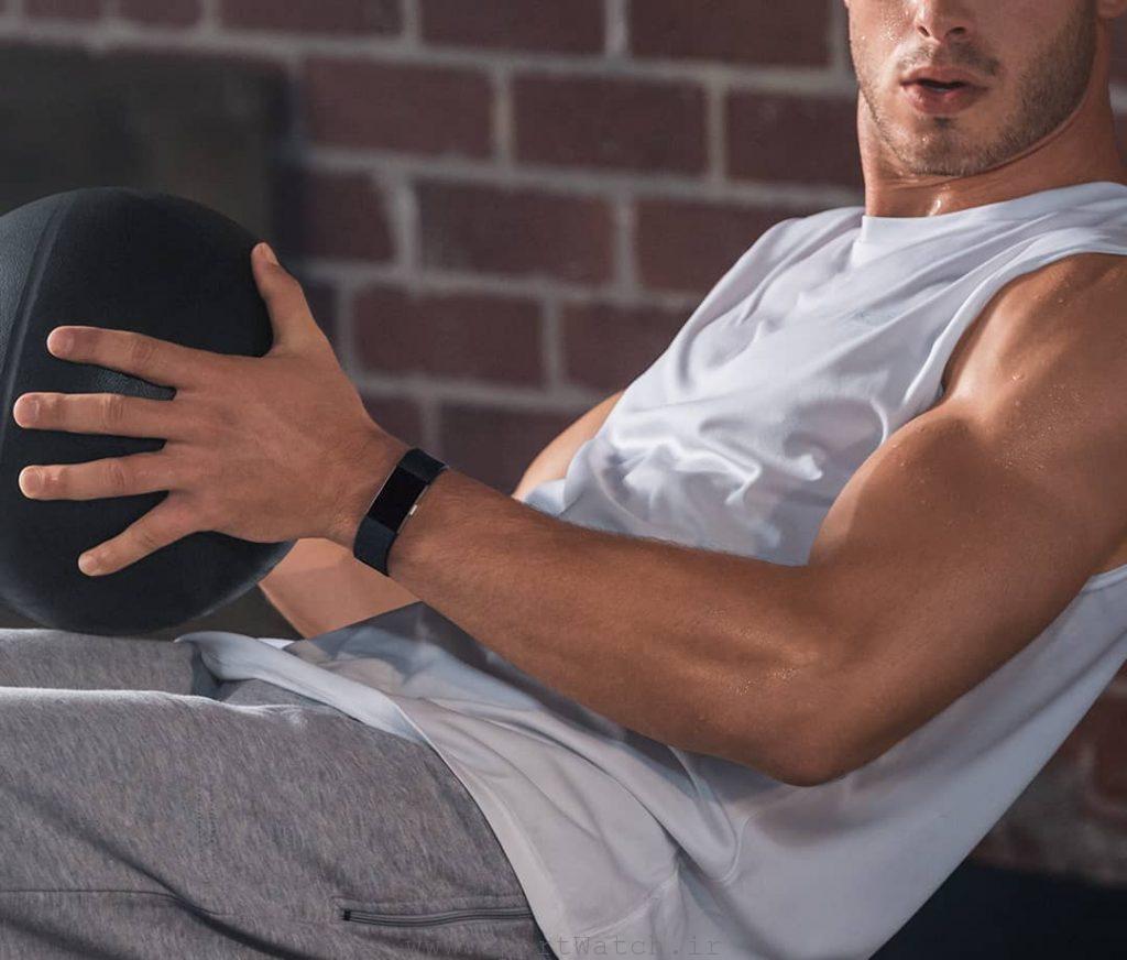 ساعت هوشمند فیت بیت Fitbit charge2 black silver