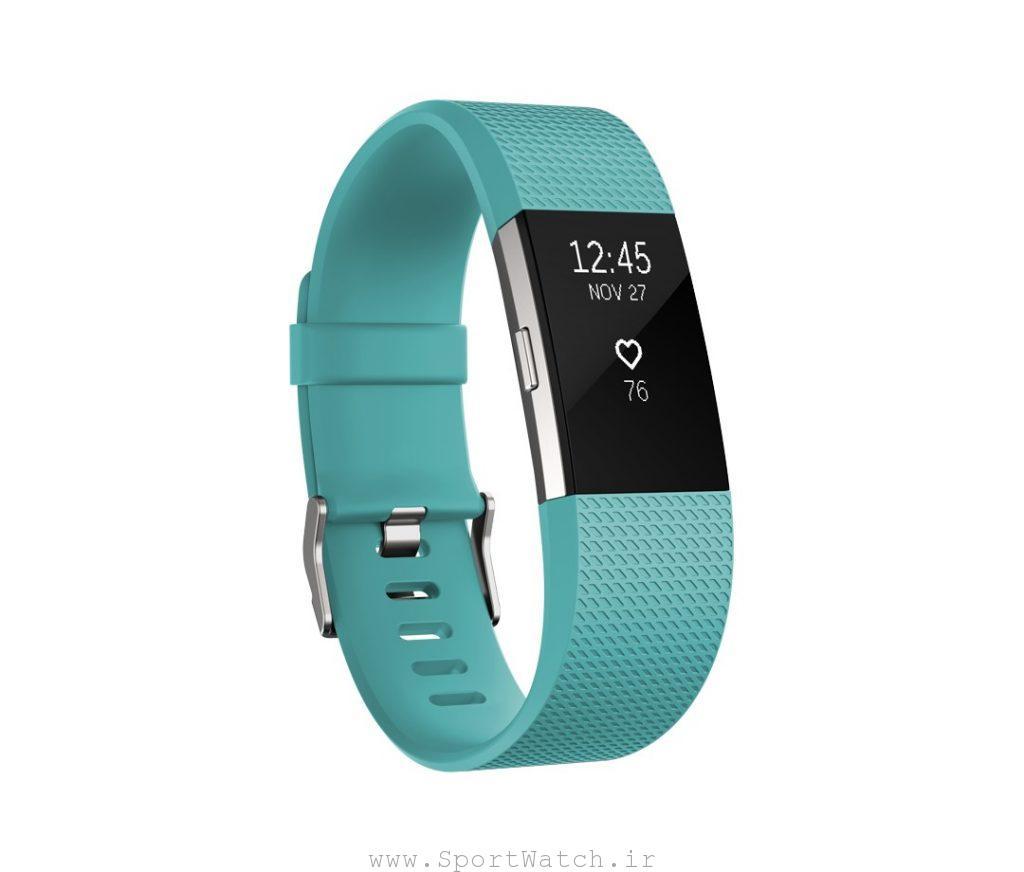 ساعت هوشمند فیت بیت Fitbit charge2 teal silver
