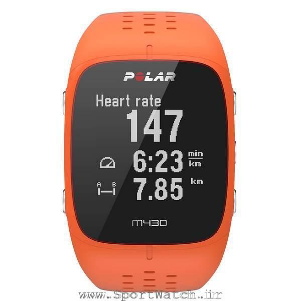 ساعت ورزشی پلارpolar m430 نارنجی