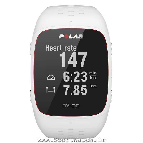 ساعت ورزشی پلارpolar m430 سفید