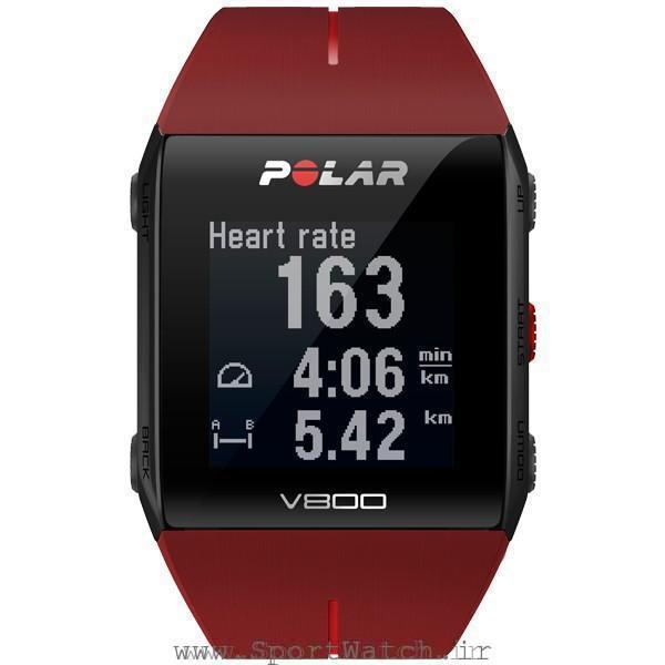 ساعت ورزشی پلار وی 800 قرمز
