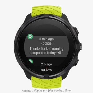 ss050144000 suunto 9 lime front view_ time notifications