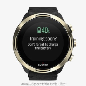ss050256000 suunto9 baro gold leather _battery reminder charge