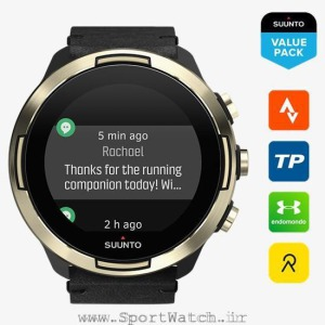 ss050256000 suunto9 baro gold leather _ time notifications