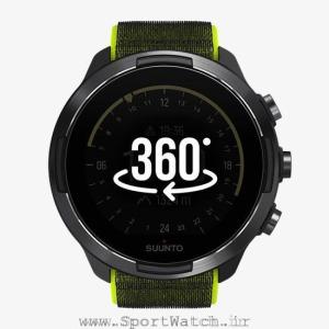 ss050449000 suunto 9 baro lime _ watch face yellow 360