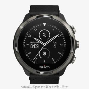 ss050464000 suunto 9 baro titanium leather _ analog watchface white