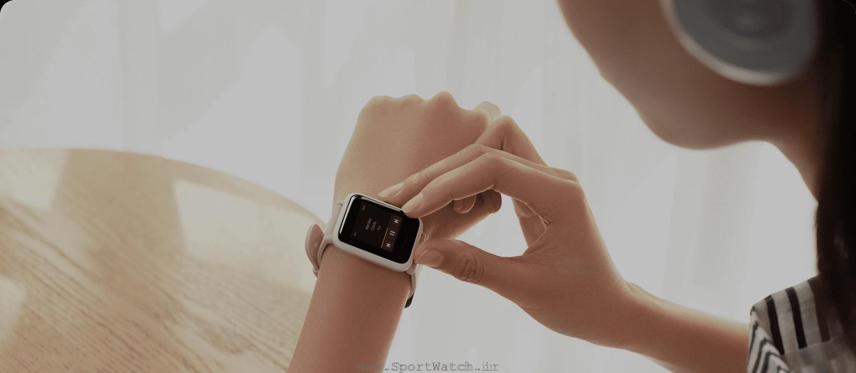 ساعت هوشمند آمازفیت بیپ اس سفید