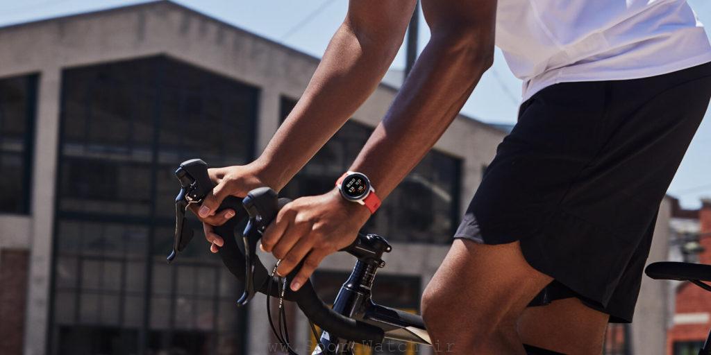 دوچرخه سواری با ساعت آمازفیت GTR