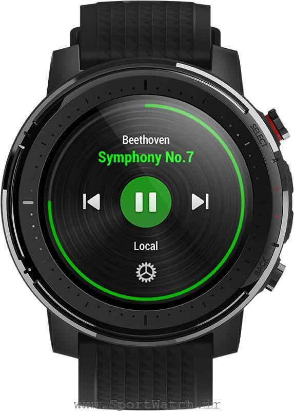 پخش موسیقی با ساعت استراتوس 3