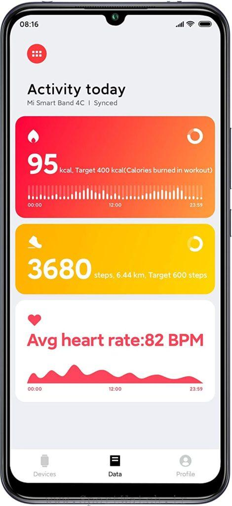 همگام سازی موبایل با Mi Band 4C