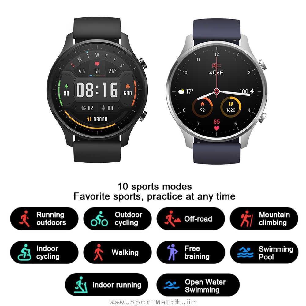 پشتیبانی از 10 حالت ورزشی توسط ساعت می واچ کالر