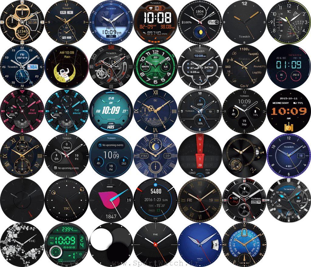 صفحه نمایش های ساعت هوشمند تیک واچ پرو 2020
