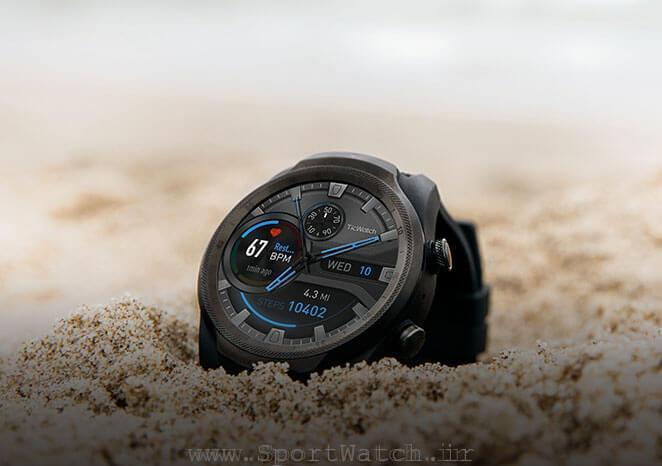 ساعت هوشمند ورزشی ticwatch pro 4g premium