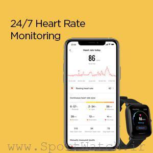 نظارت بر ضربان قلب ساعت هوشمند آمازفیت بیپ یو