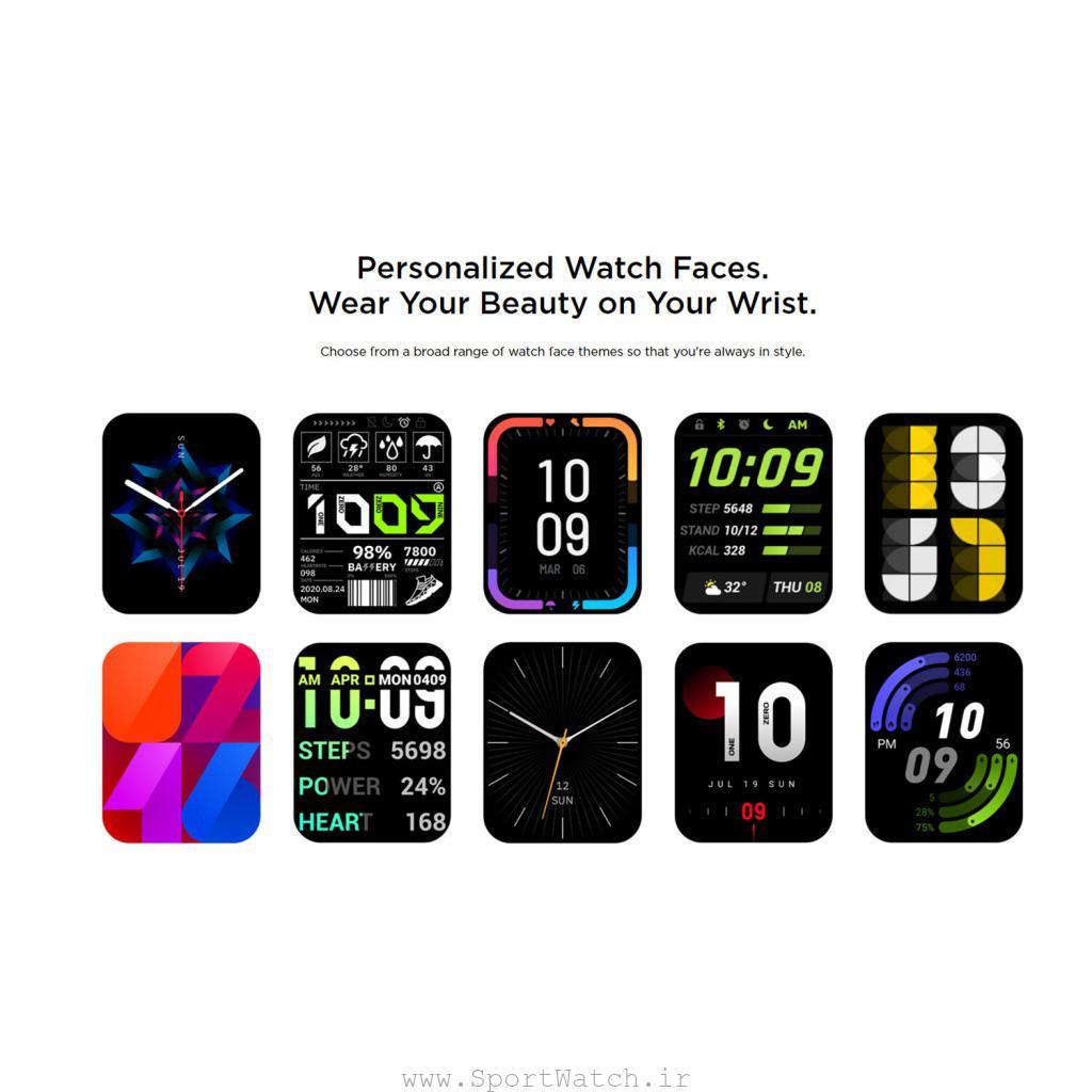 صفحه نمایش های ساعت آمازفیت جی تی اس 2 ای