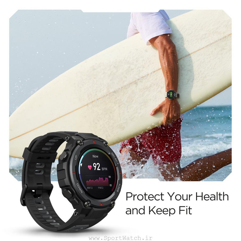 سلامت قلب با Amazfit T-Rex Pro